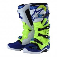 TLD ALPINESTARS BOOTS TECH 7 YELLOW FLUO / BLUE / WHITE SIZE 12