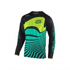 GP AIR JERSEY DRIFT BLACK / TURQUOISE