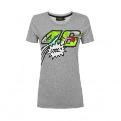 VR46 CLASSIC-POP ART 19 TSHIRT WOMAN, MEL. GREY, L T-SHIRT Woman MEL. GREY